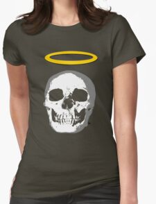 skull with halo Womens Fitted T-Shirt