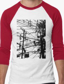 telephone poles Men's Baseball ¾ T-Shirt
