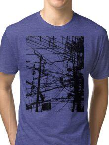 telephone poles Tri-blend T-Shirt