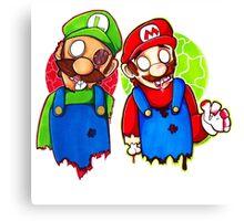 Zombie Mario & Luigi Canvas Print