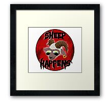 Sheep Happens Framed Print