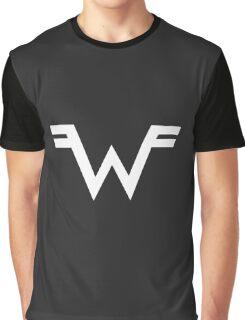 Weezer =W= Logo White Graphic T-Shirt