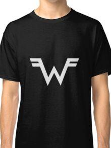 Weezer =W= Logo White Classic T-Shirt
