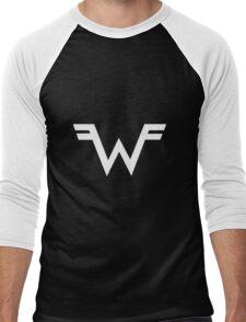 Weezer =W= Logo White Men's Baseball ¾ T-Shirt