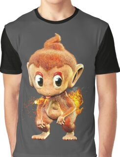 Realistic Pokemon: Chimchar Graphic T-Shirt