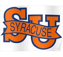 Syracuse Orange University Blue Poster