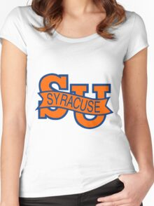 Syracuse Orange University Blue Women's Fitted Scoop T-Shirt