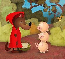 Big bad riding wolf meets the three little piggles by Drew Bristow