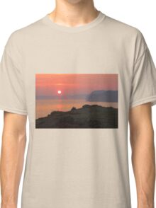Sunset From Jurassic Coast Classic T-Shirt