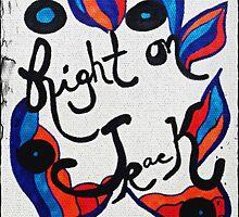 Rachel Doodle Art - Right On Track by Rachel Maynard