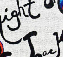 Rachel Doodle Art - Right On Track Sticker