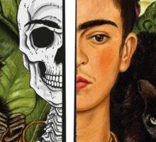 Frida Kahlo - Self Portrait (1940) Skeleton Version Sticker
