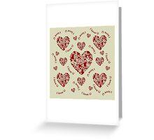 Hearts, hearts, hearts Greeting Card