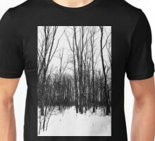 Snowy Trail Through The Woods Unisex T-Shirt