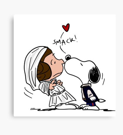 Snoopy Lucy Star Wars Canvas Print