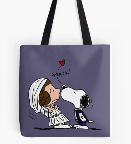Snoopy Lucy Star Wars Tote Bag