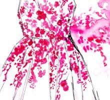 Cherry Blossom Dress Sticker