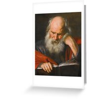 Pier Francesco Mola SAINT JEROME Greeting Card