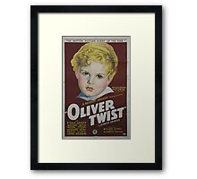 classic movie : Oliver Twist Framed Print