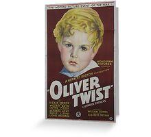 classic movie : Oliver Twist Greeting Card