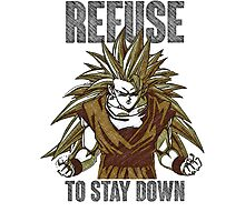 Refuse to stay Down v2 Photographic Print