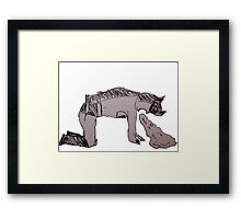 Batman Puking Framed Print