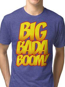 Big Bada Boom Comic Book T Shirt Tri-blend T-Shirt
