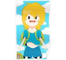 Finn The Human (Adventure Time) Poster