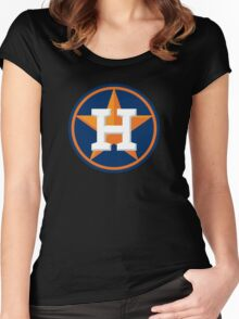 huoston astros Women's Fitted Scoop T-Shirt
