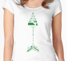 Original Team Arrow Collage Women's Fitted Scoop T-Shirt