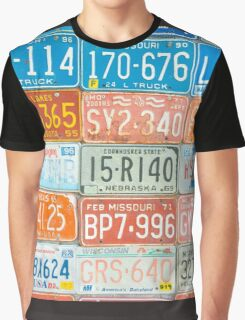 Vehicle rego plates Graphic T-Shirt