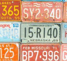 Vehicle rego plates Sticker