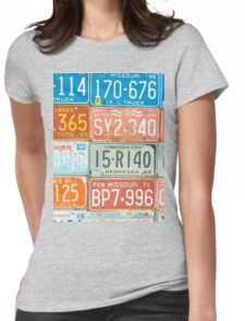 Vehicle rego plates Womens Fitted T-Shirt