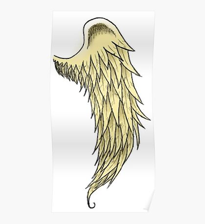 Single Angel Wing Poster
