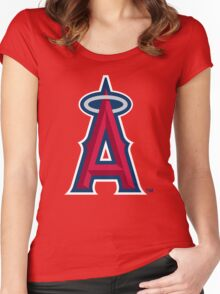 los angels of anaheim Women's Fitted Scoop T-Shirt