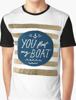 You float my boat Valentine's Day Graphic T-Shirt