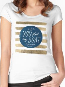 You float my boat Valentine's Day Women's Fitted Scoop T-Shirt
