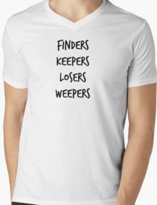 Finders Keepers Mens V-Neck T-Shirt