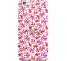 Alpha Delta Pi Sorority Flowers iPhone Case/Skin