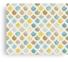 Watercolor Mermaid Scales - Yellow & Blue Canvas Print