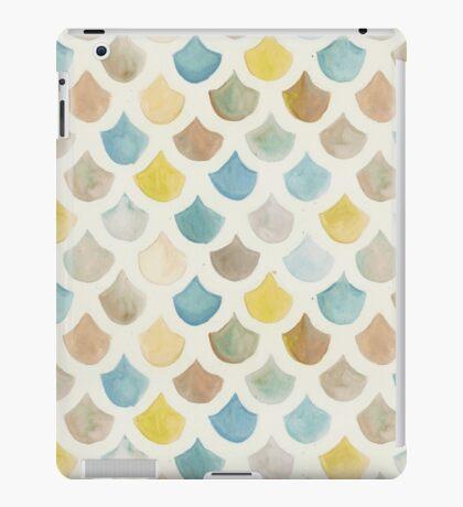 Watercolor Mermaid Scales - Yellow & Blue iPad Case/Skin
