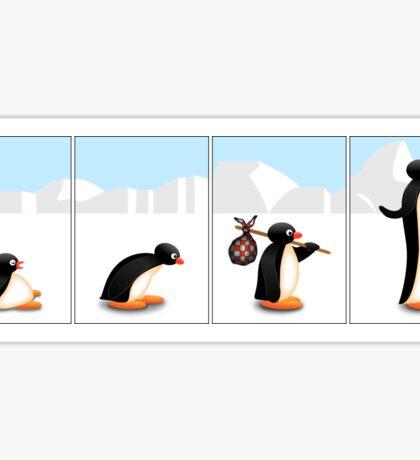 The penguin evolution Sticker