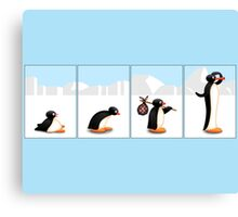 The penguin evolution Canvas Print