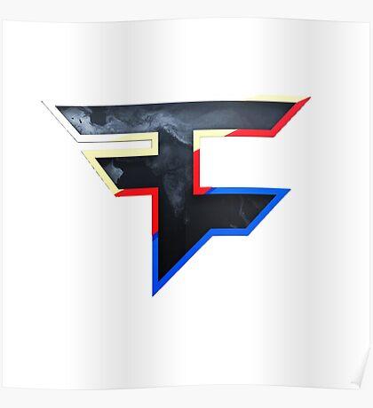 Faze 2.0 | World Logo | White Background Poster