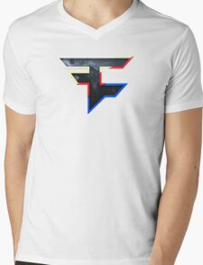 Faze 2.0 | World Logo | White Background Mens V-Neck T-Shirt