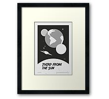 """The Twilight Zone"" Third from the Sun Framed Print"