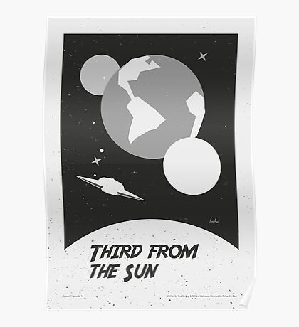 """The Twilight Zone"" Third from the Sun Poster"