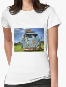 Blue VW Womens Fitted T-Shirt