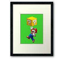 Mario Jumping Framed Print