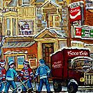 MOE'S DINER CORNER SNACK BAR DOWNTOWN MONTREAL CANADIAN ART BY CANADIAN ARTIST CAROLE SPANDAU by Carole  Spandau
